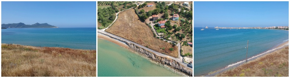 Seaside Plot of land M21: Unique uninterrupted sea & castle views, plot 6512 m², perfectly located in the area of Methoni, next to the beach and 1 km to the beachfront square of Methoni, easy access