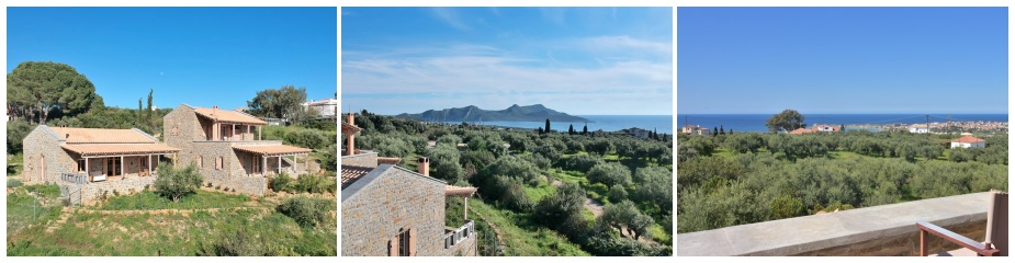 Villa Glikorizi ref.231: Stunning sea views, only 4 minutes' drive away from the nearest sandy beach, plot 4010 m², total living area 149 m², 3 bedrooms, 3 bathrooms, garden, parking area, easy access, partly furnished and fully equipped.