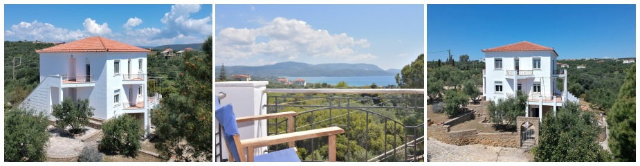 Villa Strougitsa ref.163: Excellent VFM, Suitable for residential and commercial use (rental accommodation), beautiful sea view, peaceful location, 2 independent floor apartments of 96 m² each (total living area 192 m²), 6 - 8 bedrooms, 3 bathrooms, extra 96 m² garage – basement with storage areas, garden