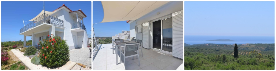 Villa Oleander Ref.167: Beautiful Sea Views, Nice Surroundings, 2 Independent Apartments, Impressive Fenced Garden, Garage, Covered Parking Area For 2 Cars