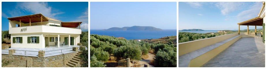 Villa Morea Ref.120: Panoramic Sea Views, Spacious Accommodation 200 M², Large Living Room, 3 Bedrooms Plus Attic, 2 Bathrooms, Guest Apartment, Enormous Terrace, Integral Garage, Olive Trees
